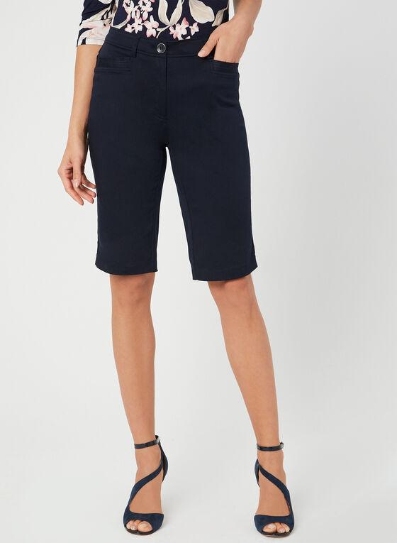 Modern Fit Bermuda Shorts, Blue