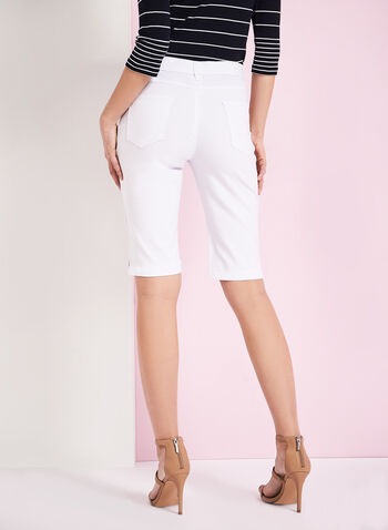 Simon Chang Microtwill Bermuda Shorts, White, hi-res