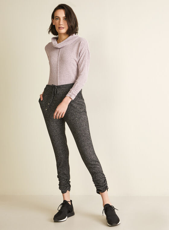 Ruched Detail Jogger Pants, Grey