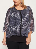 ¾ Sleeve Layered Blouse, Purple, hi-res