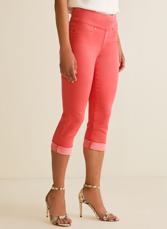 Capri pull-on en denim, Orange
