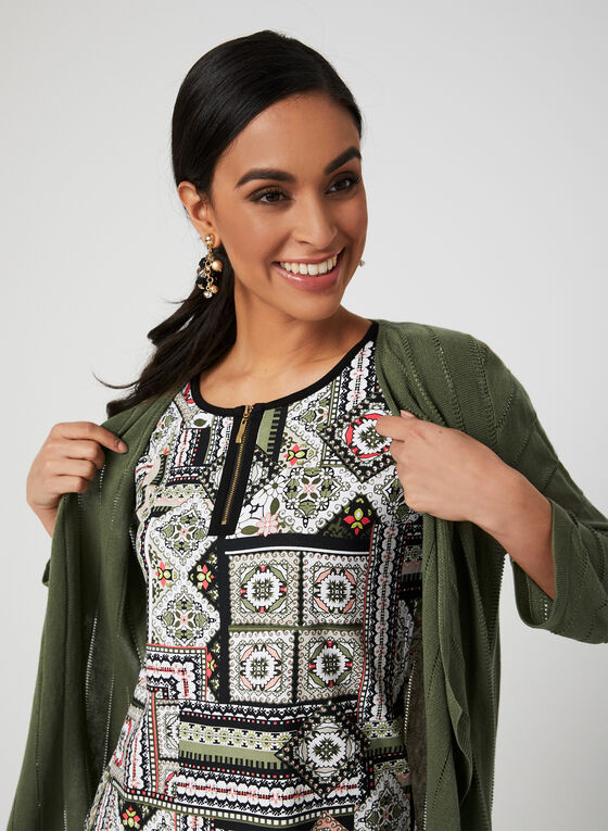 Aztec Print T-Shirt, Green