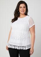 Linea Domani - Crochet Lace Top, White, hi-res