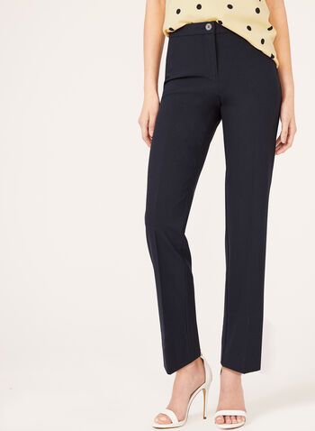 Signature Fit Straight Leg Pants, Blue, hi-res