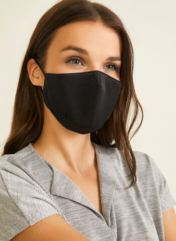 Fabric Mask With Filters, Black,  mask, monochrome, cotton, adjustable, washable, reusable, wire, filters, fall winter 2020