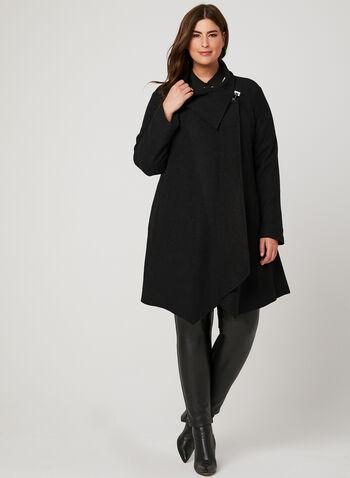 Light Wool Blend Coat, Black, hi-res