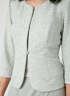 Robe à corsage en fibres métallisées et cardigan , Argent, hi-res