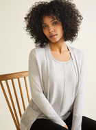 Cardigan With Integrated Tank, Grey