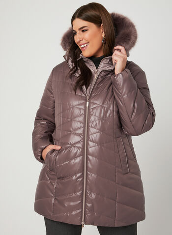 Marcona – Quilted Coat, Pink, hi-res