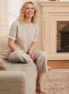 Short Sleeve Sweater Knit Top, Grey