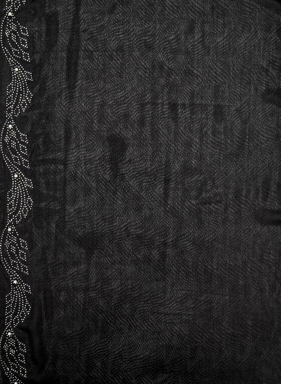 Embellished Scarf, Black