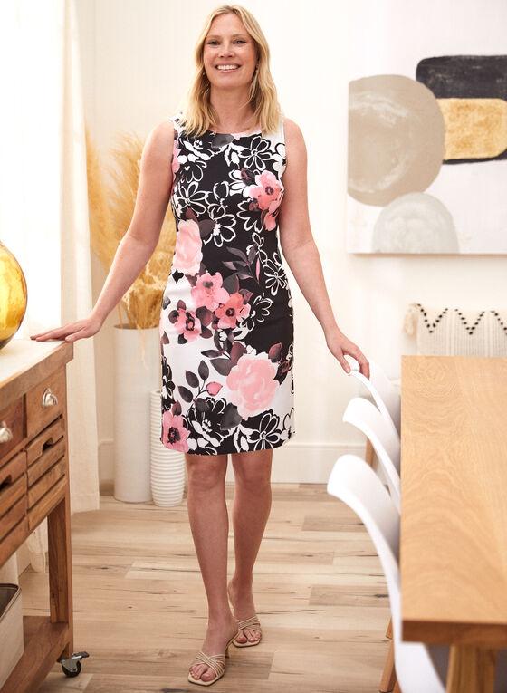 Floral Print Sleeveless Day Dress, Pink