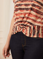 Striped Short Sleeve Tee, Brown
