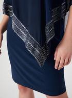 Robe poncho à détails métalliques, Bleu, hi-res