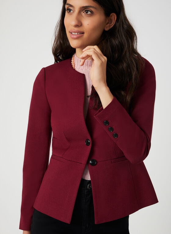 Two-Button Jacket, Red