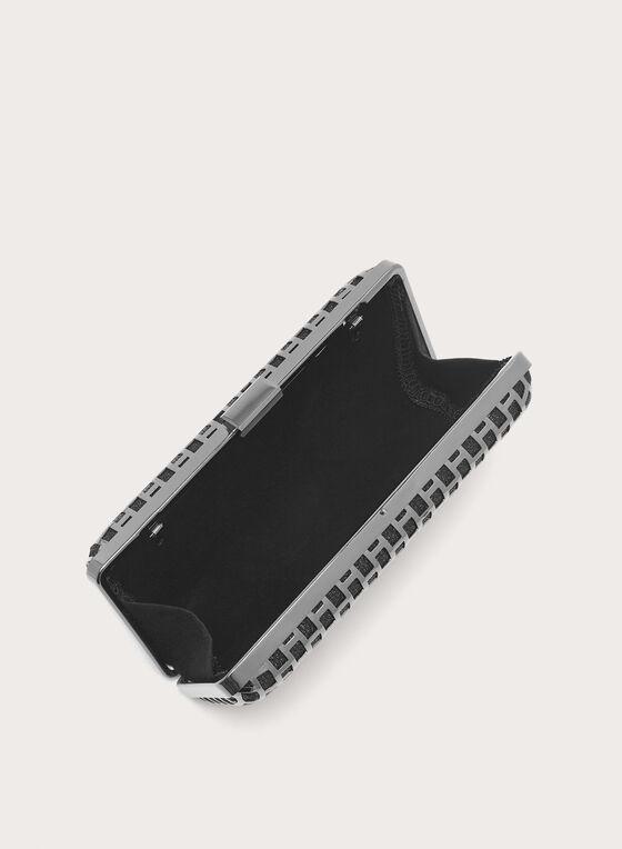 Pochette avec découpes métallisées, Gris, hi-res