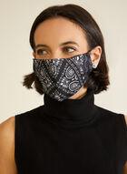 Masque lavable à imprimé bandana, Noir