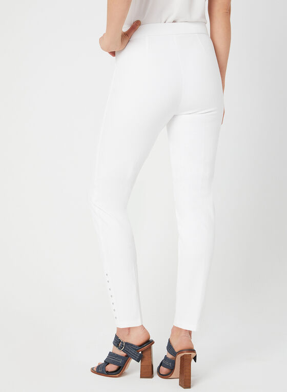 City Fit Slim Leg Pants, Off White