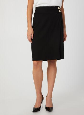 Pencil Skirt, Black,  canada, skirt, pencil skirt, straight skirt, metallic, button, short skirt, fall 2019, winter 2019