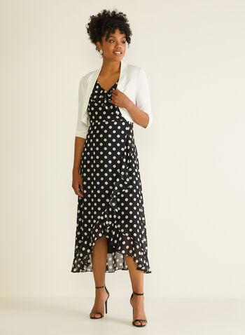 ¾ Sleeve Bolero, Off White,  spring summer 2020, 3/4 sleeves, jersey fabric