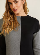 Two Tone Colour Block Sweater, Black