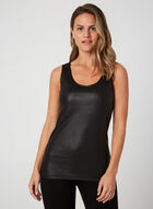Faux Leather Sleeveless Top, Black