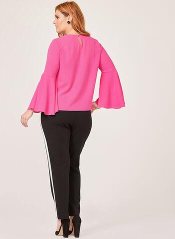 Frank Lyman - Bell Sleeve Crepe Blouse, Pink, hi-res