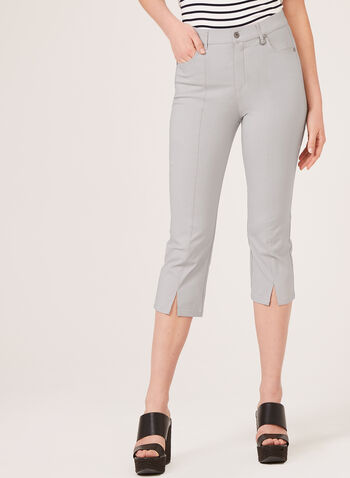 Simon Chang – Straight Leg Capris, Grey, hi-res
