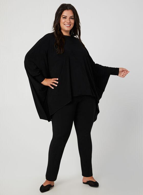 Joseph Ribkoff - Haut style poncho en jersey, Noir, hi-res