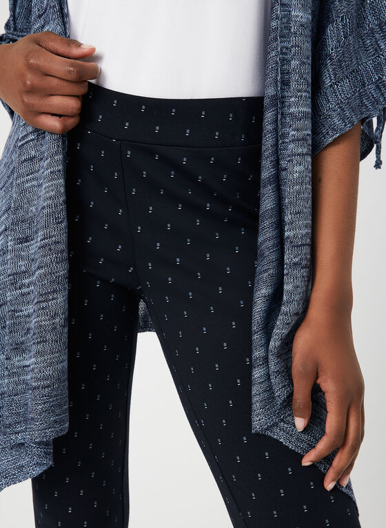 City Fit Geometric Print Pants, Blue, hi-res