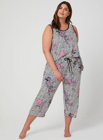 Hamilton - Pyjama 2 pièces motif animalier et fleurs, Multi, hi-res