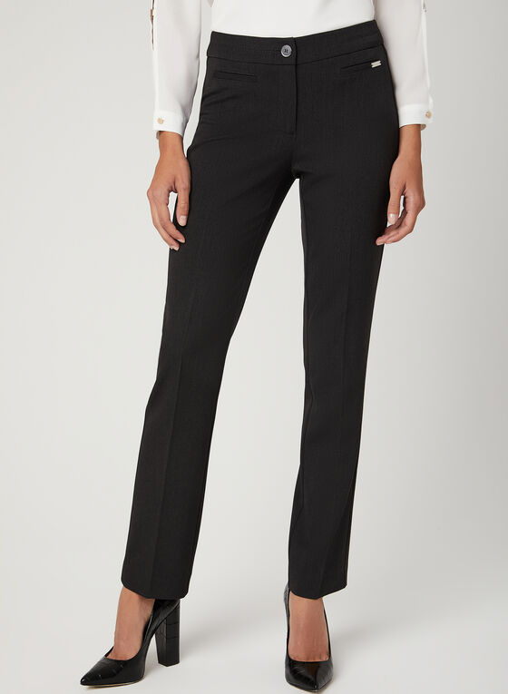 Modern Fit Straight Leg Pants, Grey