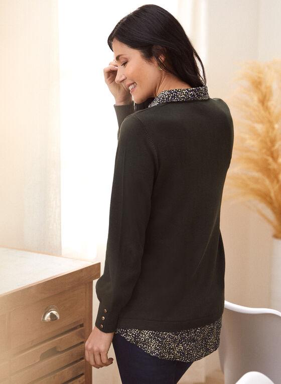 Long Sleeve Fooler Sweater, Green