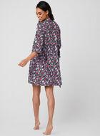 René Rofé - Pyjama deux pièces motif floral, Noir, hi-res
