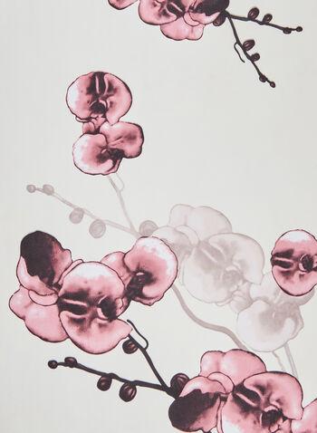 Floral Print Chiffon Scarf , Pink,  scarf, light, flowers, chiffon, Spring 2020