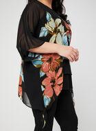 Joseph Ribkoff - Floral Print Poncho Blouse, Black, hi-res