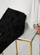 City Fit Floral Pants, Black