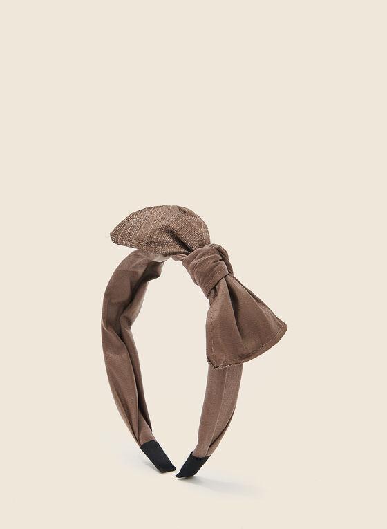 Bow Top Headband, Brown