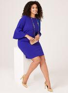 Jessica Howard - Robe fourreau à manches cloche ¾, Bleu, hi-res
