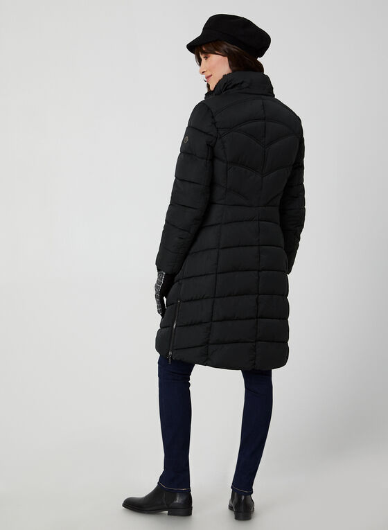 Bernardo - Quilted Faux Down Coat, Black