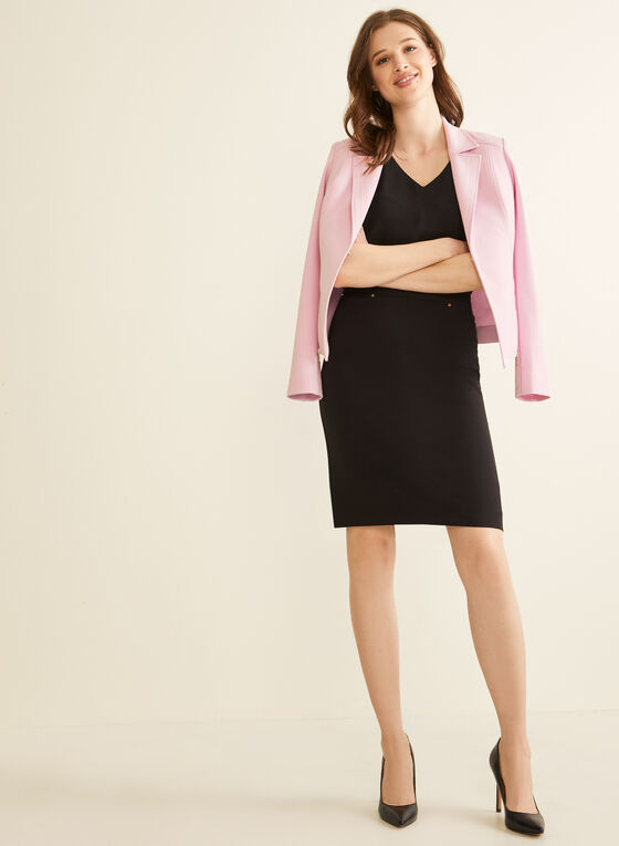 Topstitch Blazer, Purple