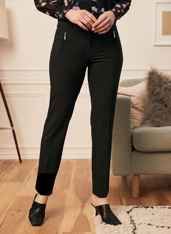 City Fit Straight Leg Pants, Black
