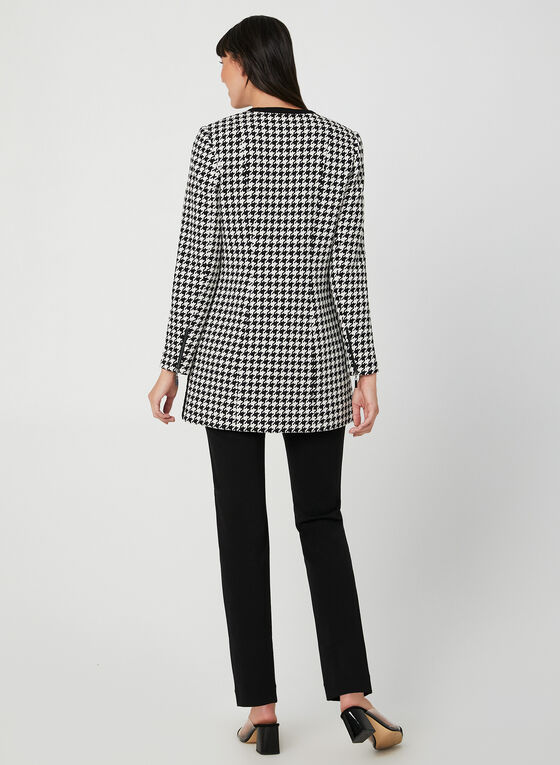 Houndstooth Jacket, Black, hi-res