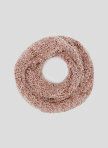 Chenille Infinity Scarf, Pink, hi-res