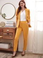 City Fit Straight Leg Pants , Yellow