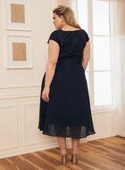Lace Bodice Fit & Flare Dress, Blue