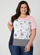 Colour Block T-Shirt, Blue, hi-res