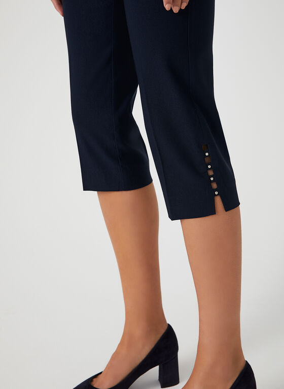 Modern Fit Capri Pants, Blue