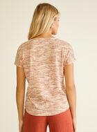 Short Sleeve Textured Top, Orange