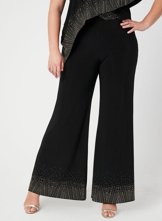 Joseph Ribkoff - Modern Fit Wide Leg Pants, Black